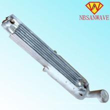 Radiador de calefacción de tubo de acero doble central 800