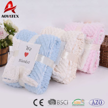 promotion super soft custom solid micromink winter blanket