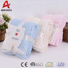 promoção maciço personalizado super macio micromink cobertor de inverno