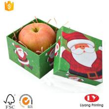Boîte rigide de carton d'emballage de cadeau de Noël