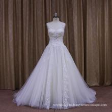 Vestido de boda del amor del halter atractivo del arco del chispa
