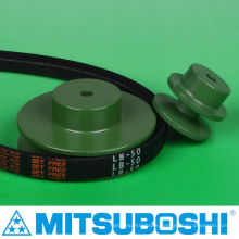 Best seller durable v-belt pulley for timing, flat, round & V belt. Manufactured by Mitsuboshi Belting and NBK. Made in Japan
