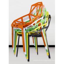 chaises de café à manger en plastique branche d'arbre creux chaise acrylique chaise en plastique