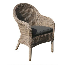 Resin Patio Garden Wicker Rattan Outdoor Dining Arm Chair