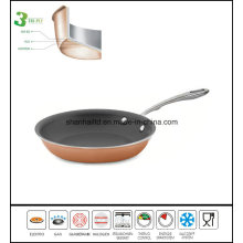 Copper Clad Askew Nonstick Fry Pan