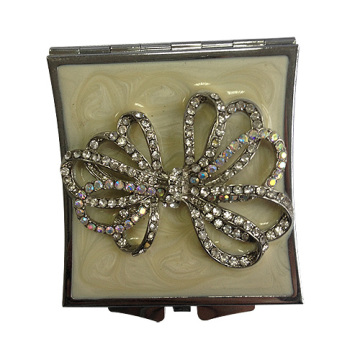 Crystal Ribbon Compact Mirrors 7CM Round