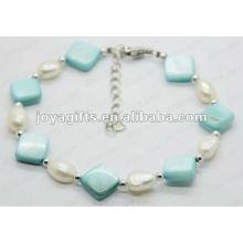 Fashion 2012 Joya Blue Pearl Shell perlé cheville