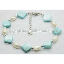 Fashion 2012 Joya Blue Pearl Shell Beaded Anklet