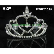 Princesa simple del corazón y corona barata nupcial de la tiara