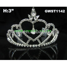 Simple heart princess and bridal cheap tiara crown