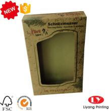Earphone packaging kraft paper box with window