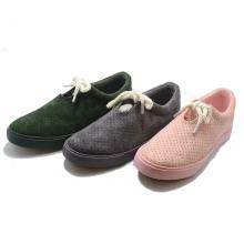 Suede Penching Fashion Vulcanization Injection School Women Shoes