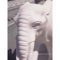 Estátua de elefante de mármore branco