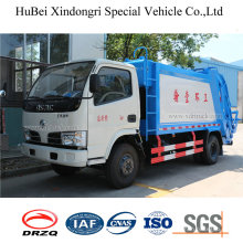 5cbm Dongfeng hydraulic Automatic Loading Euro 4 Barrel Turning Garbage Compactor Truck