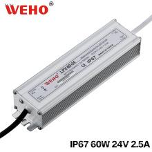60Вт 24В светодиодный Водонепроницаемый Импульсный источник питания IP67