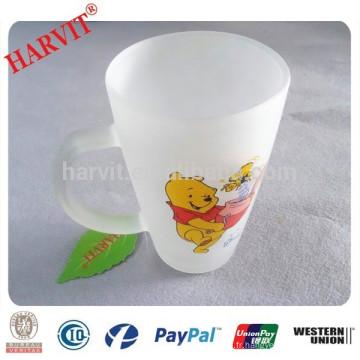 Coupe en verre givré de Chine / Tasse en verre glacé givré