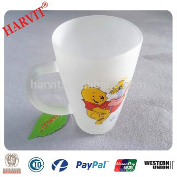 China Supplier Frosted Glass Cup/ Frosted Drinking Glass Mug
