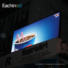 Panneau d'affichage extérieur de la publicité numérique de bâtiment d'armature en acier P10 Panneau extérieur d'affichage de la publicité numérique de cadre en acier P10