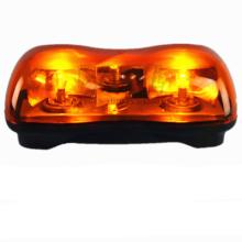 """12 """"8w Ámbar de advertencia ámbar parpadeante Imán fuerte Instalación LED Mini barra de luz de emergencia"""