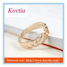 Personalized 18k gold plated spinning rings