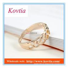Anéis de fivela banhados a ouro 18k personalizados