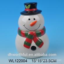 Ceramic christmas snowman airtight storage jars