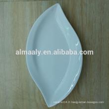 Hot-vente pure vaisselle en porcelaine blanche 7.5 8 plat de riz en céramique plaque de fruits