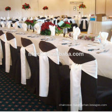 Satin tie chair cover bow for wedding
