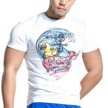 OEM service O-neck customized printed cotton men's tshirt