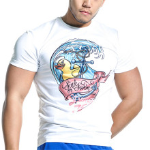 OEM service O-neck customized printed cotton men's tshirt