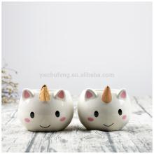 Taza de café de cerámica preciosa del unicornio de la historieta 3D