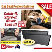 2PCS Черный Catch Catcher Box Caddy Автомобиль Seat Gap щель Карманный хранения Организатор (Bag22)