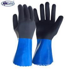 NMSAFETY anti-cut 5 luvas de nitrilo de revestimento duplo de manga comprida