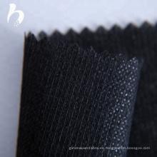 Punto de unión no tejido fusible interlineado para prenda.