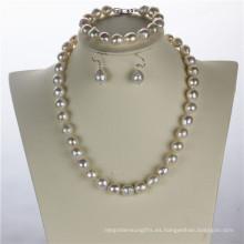 Snh Nautral Venta caliente de agua dulce conjunto de collar de perlas
