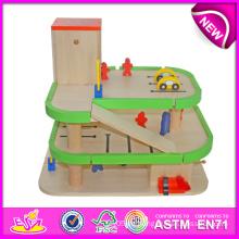 Hot Item Holzparkplatz Spielzeug für Kinder, Kinder Spielzeug Park Spielzeug Auto Parkplatz, lustige Holzspielzeug Parkplatz Spielzeug für Baby W04b007