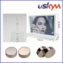 Magnetic Table Card/Double Faced Frame/Magnetic Business Card Holder