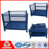 industrial wire frame storage box stacking pallet cage