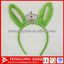 Halloween decorations children beloved plush green hair band with crown