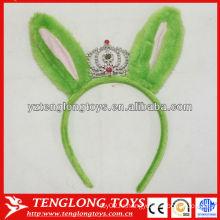 Хэллоуин украшения детей любимый плюшевый зеленый волос группы с короной