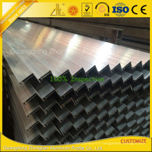 Profil en aluminium solaire anodisé adapté aux besoins du client pour la fabrication de panneau solaire / cellule solaire