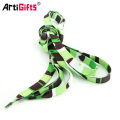 Fabricación promocional en blanco del cordón del zapato del poliéster de encargo promocional
