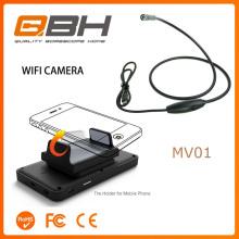 Smartphone Endoscópio Sem Fio Wi-fi Endoscópio 5.5mm Lente À Prova D 'Água 4LED Câmera Endoscopia Ajustável Para iPhone e Android