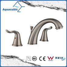 Popular Bathroom 3 Hole Brass Sink Faucet (AF3410-6BN)