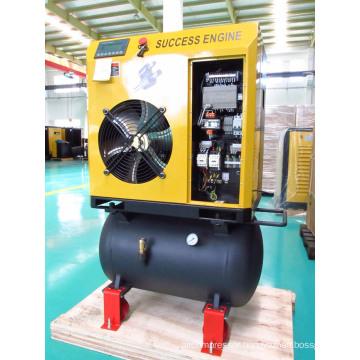 4kW 5HP Screw Air Compressor with Air Tank (SEC4A)