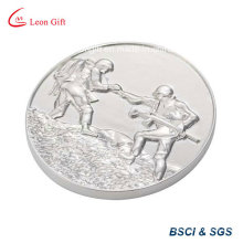 Silvery Metal Souvenir Coin for Gift