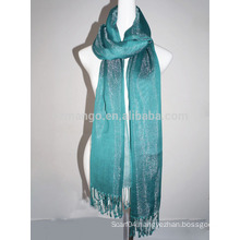 Fashion shining viscose pashmina scarf with shiny acrylic