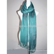 Foulard pashmina à viscose brillant à la mode avec brillant acrylique