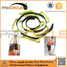 Cinturón de correa elástica Pilates con múltiples asas de agarre