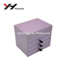 Wholesale cheap price customize big lots jewelry box with four drawers pink